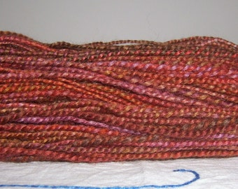 Hand Spun Hand Dyed BFL Wool Shades of  Fall Two Ply Yarn 326 YDS