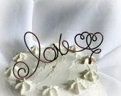 Wedding Rustic Decor, Love Cake Topper, Choose Your Color