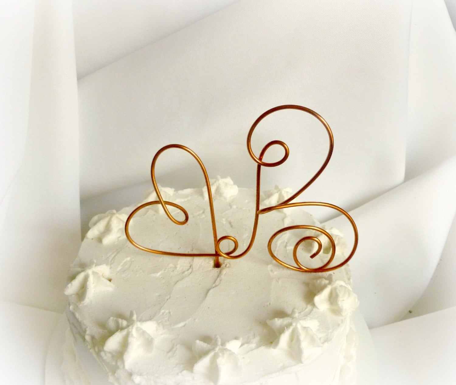 Copper Cake Topper Rustic Details Ranch by HomesAndWeddings
