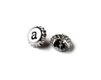 Mini Bottle Cap Stud Earrings - Accessories - Women's Jewelry - Gift Idea - Handmade - Gift Box Included