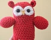 Sale Oakley the Owl Plush Plushie Amigurumi Stuffed Animal Softie Crochet READY TO SHIP