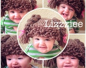 Doll Hair hat crochet pattern - Cabbage Patch Wig - Easy instructions in 6 sizes - Instant Digital Download