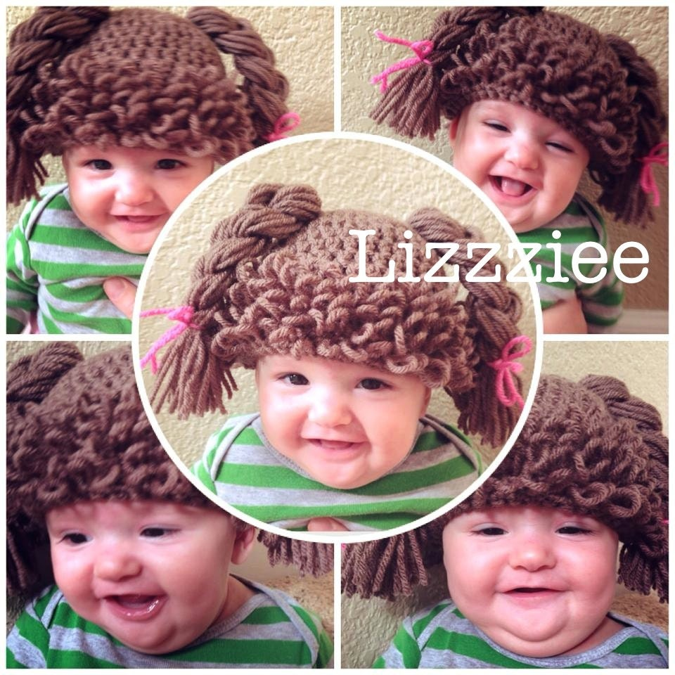 Crochet Hair For Dolls : Doll Hair hat crochet pattern Cabbage Patch Wig Easy by lizzziee