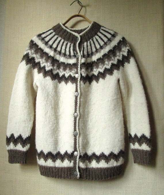 Knitting Patterns For Nordic Sweater : Nordic sweater ski sweater hand knit sweater cardigan