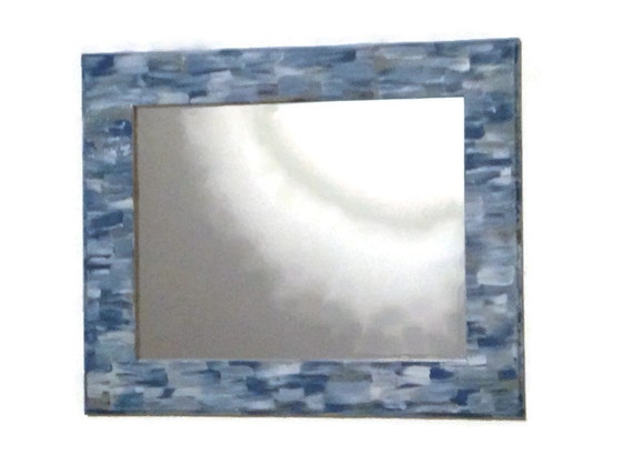 Beach themed bathroom Mirror Shabby Chic Hand Painted Ornate