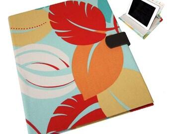 iPad Air  2 3 or 4 Hard Case, iPad Cover, iPad Sleeve, i Pad stand up iPad mini hard case Tropical Print Camera Hole