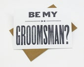 Will You Be My Groomsman -  (5) groomsman cards