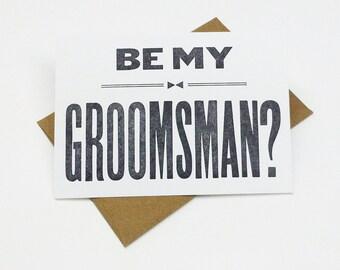 Will You Be My Groomsman -  (5) groomsman cards