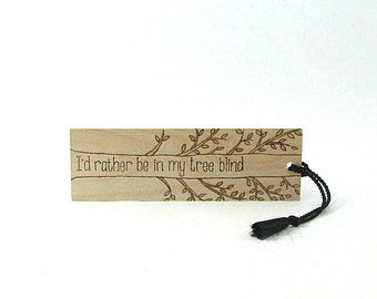 Hunter Bookmark - Wood Pyrography - Tree Blind Bookmark