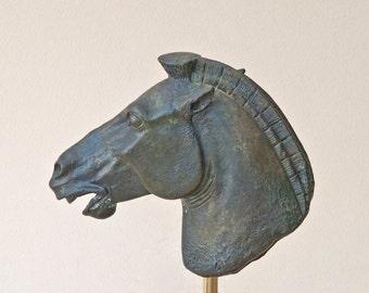 Bronze Horse, Greek Metal Art Sculpture, Parthenon Temple Athens Acropolis, Museum Quality Art, Ancient Greek Art, Equine Decor, Art Decor