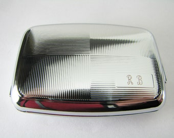 Custom Engraved Personalized Checker Board Design Silver Pill Box -Hand Engraved
