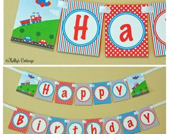 Planes, Trains, & Automobiles Birthday Banner, Instant Download, Printable, Digital