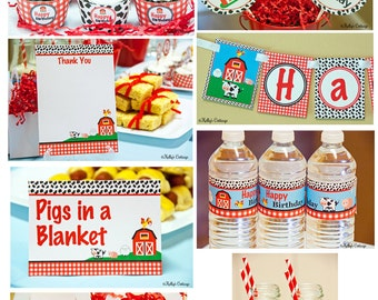 Barnyard Birthday Party Ready To Go Package Printable DIY Package