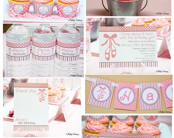 Ballerina Birthday Party Package...Custom, Printable DIY Package