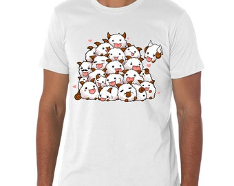 White League of Legends POROS! poro group t-shirt