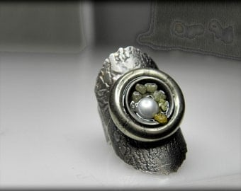 contemporary silver ring, sculpture ring, modern jewelry