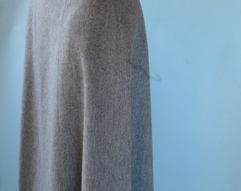 1970s grey wool a-line skirt