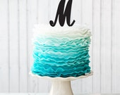Letter Cake Topper - Initials Cake Topper - Wedding Cake Topper - Peachwik - A,B,C,D,E,F,G,H,I,J,K,L,M,N,O,P,Q,R,S,T,U,V,W,X,Y,Z, & - PT45