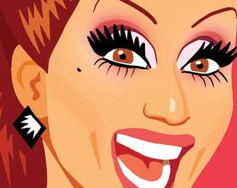 Bianca Del Rio - Meet the Queens Postcard
