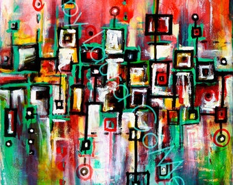 Favelas - Original Art or Print of Original Abstract Art byLaura Gomez -Abstract-Modern-Contemporary-Industrial  Art