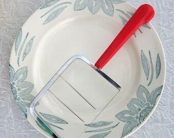 Cheese Slicer Cutter  Red Bakelite Handle