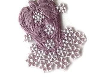 Snow Angel, Ornament Angel, Winter Angel, Lavender Angel, Machine Embroiderd Angel