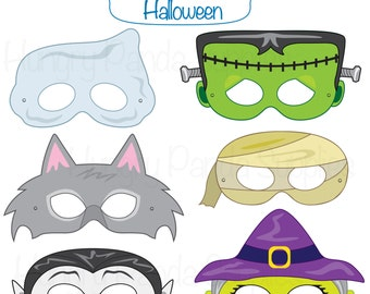 halloween face mask templates - popular items for halloween masks on etsy