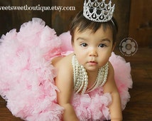 Baby Tiara Princess Crown Photo Prop Baby Tiara Baby Headband Newborn Headband Princess Crown Full Rhinestone Crown Headband