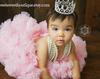 Baby Tiara Princess Crown Photo Prop READY TO SHIP Baby Tiara Baby Headband Newborn Headband Princess Crown Full Rhinestone Crown Headband