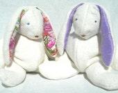 Organic Baby Toy, Stuffed Lop Eared Bunny