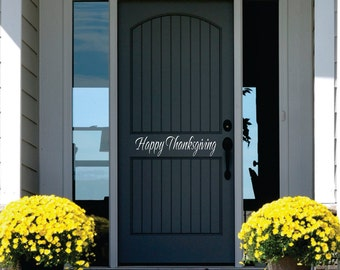 Thanksgiviing Wall Decal - Small Decal - Thanksgiving Decor - Front Door Decoration Vinyl Wall Decal