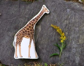Giraffe Pillow Toy. Hand Drawn Organic Cotton African Animal by Aly Parrott on Etsy. Made to order.