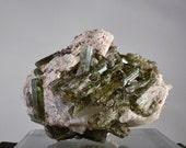 Green Tourmaline in Pegmatite Matrix Quartz Mineral Display 1.75 pound Specimen Brazilian DanPickedMinerals