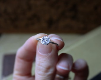 Full Moon Ring - Reclaimed Argentium Silver - Full Moon Jewelry - Artisan Silver Jewelry - Silver Moon Ring - Hypoallergenic Jewellery