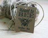 Wedding Honey Favor Tag, Printable Favor Tagm Meant To Be, Wedding Favor, DIY Honey Favor Tag, Rustic Wedding, Honey Jar Tag, Wedding Gift