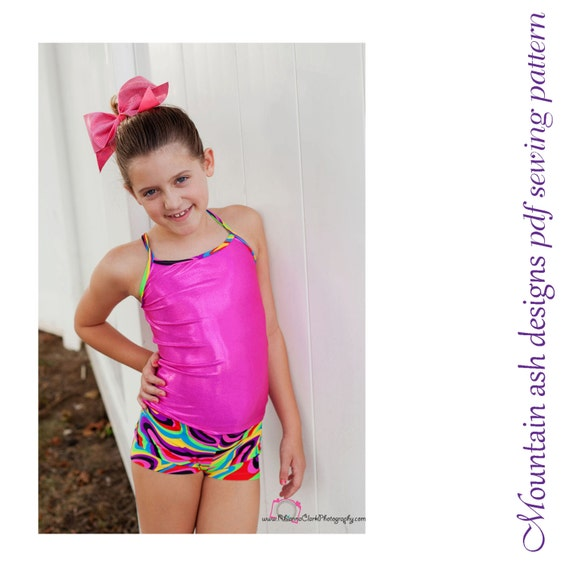 Gymnastics Pattern Training Wear Separates 1 pdf sewing pattern gymnastics crop, singlet, shorts