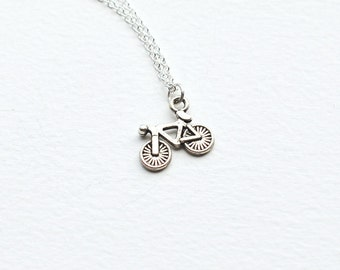 Bicycle Necklace- Bike- For Men or Women- gift idea- unique charm jewelry- county- rustic- spring summer trends - vintage fashion