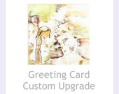 Custom Card Upgrade - Personalised Card - Wedding - Birthday - Greeting - Card From Handmade cards