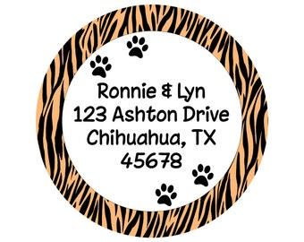 Address Labels, Stickers ~ Paw Prints, Animal Address Labels, Envelope Seals, Goody Bag Decor, Print Anything!