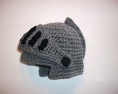 Knight Helmet Hat Crochet Costume Ships in 1-3 days