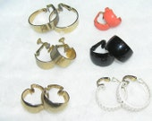 Vintage L.H. Segal Hoop Earrings