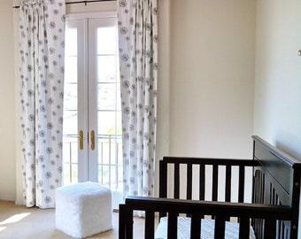 Custom Panels and Roman Shade Window Treatment  for Nursery | Designer Quality