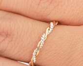 Stackable Twist Ring, Stacking Ring, Two Toned Ring, Stacking Rings, Twisted Ring, Gold Stacker Ring, Stack Ring, Braided Ring, Thumb Ring