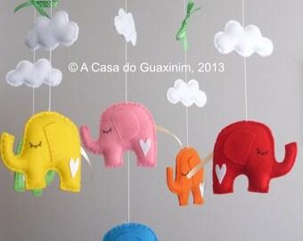 Baby Mobile - Elephants
