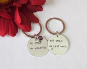 HIS and HER Keychains - He Stole my Heart -Fiance gifts