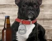 Custom Dog Collar ID Tag Bottle Opener