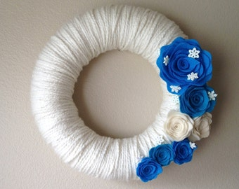 Disney Frozen - Yarn Wreath Handmade Felt Decoration- 12 inch