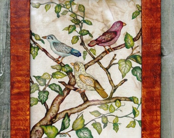 NoreensPaintings Theorem Painting 3 Birds from Switzerland