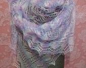 Pearl Colored Rectangular Shawl