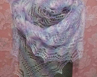 Pearl Colored Rectangular Shawl
